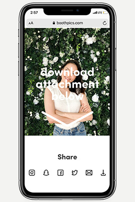 text and email sharing feature